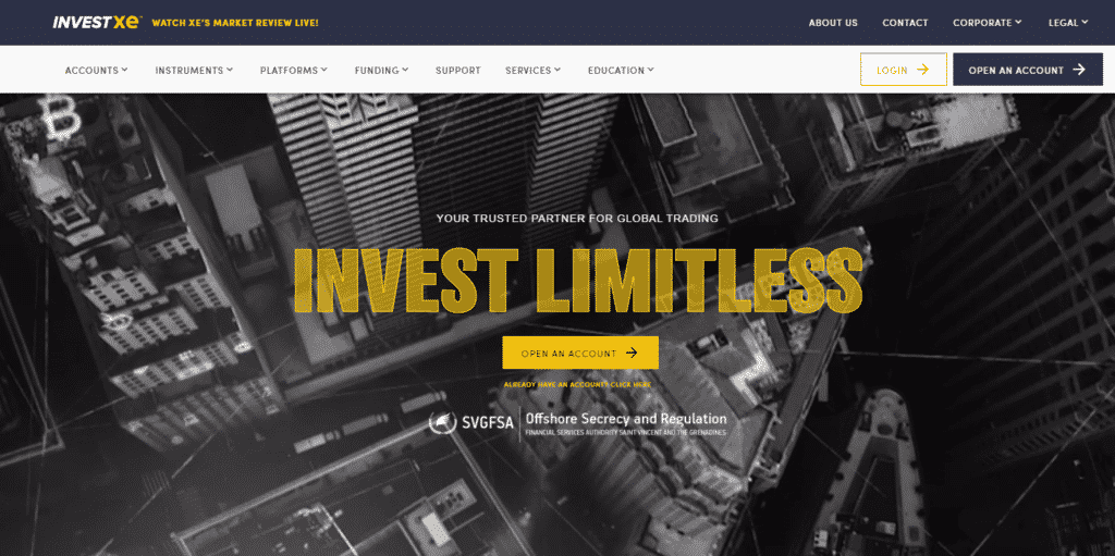 InvestXE Review- Leading Trading Platform